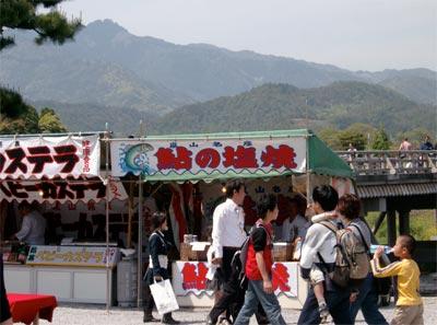 京都_嵐山_鮎塩焼き屋台